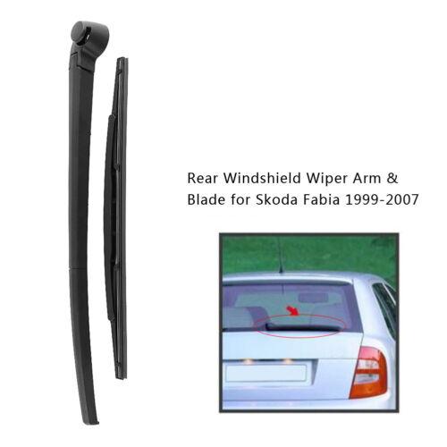 Auto Rear Windscreen Windshield Wiper Arm /& Blade Kit For Skoda Fabia 1999-2007