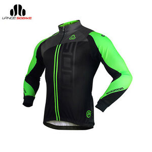 Sobike-Cycling-Fleece-Thermal-Jacket-Long-Jersey-Long-Sleeves-Michael-Green-New