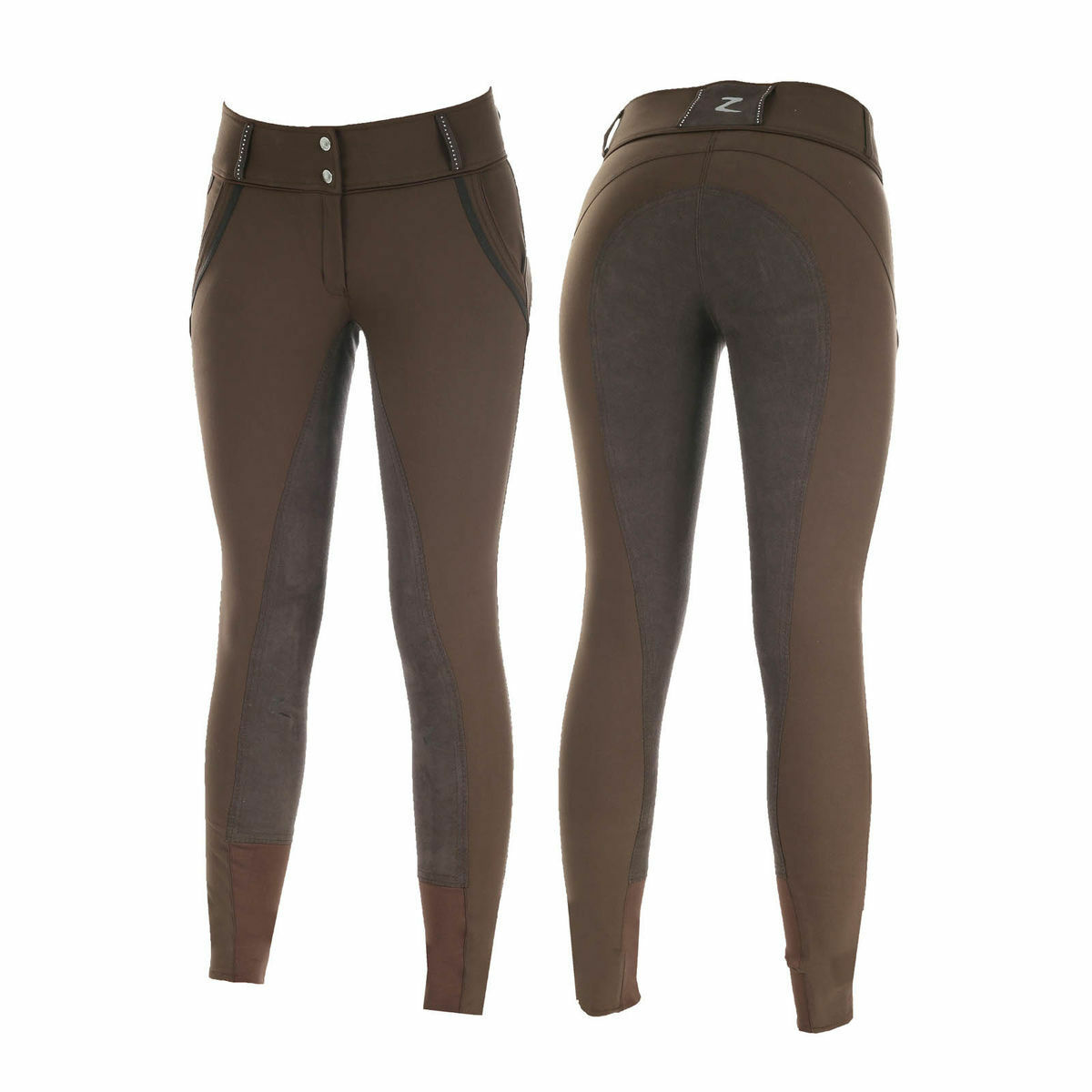 Horze Celine Women's Full  Seat Breeches - Dark Brown  best fashion