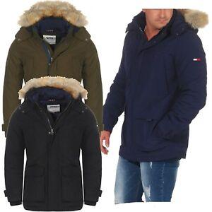 448913f6b523 Das Bild wird geladen Tommy-Jeans-Technical-Parka-Jacke-Jacket-Herren -Winterjacke-
