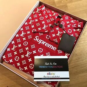 9c4d93f6e711 LOUIS VUITTON SUPREME BOX LOGO HOODIE AUTHENTIC X-LARGE MONOGRAM XL ...