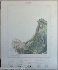 Carte originale IGN 10000è Mont Blanc - Saint-Gervais les Bains Le Fayet - 1958