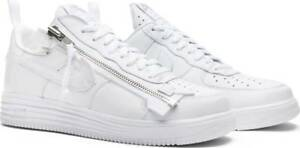buy online 461a2 49c75 Image is loading Nike-Lunar-Force-1-Acronym-17-Triple-White-
