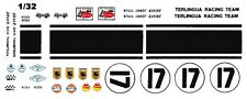 #17 Titus/Thompson 1967 Mustang Terlingua Race Team 1/32nd Scale Slot Car Decals