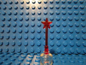 Lego-Trans-Red-Minifig-Utensil-Magic-Wand-NEW-P-N-6124