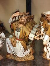 1 pastore meravigliato landi 10 cm costumi storici pastori,presepe shepherd crib
