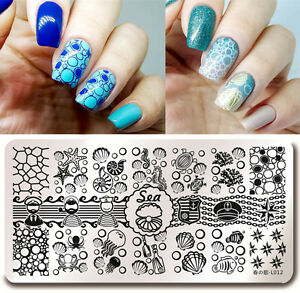 Harunouta L012 Nail Art Stamping Image Plate Template Sea Shell