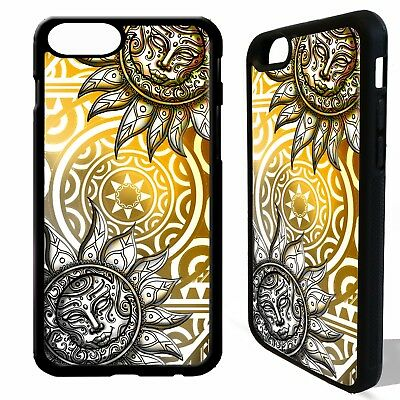 Sun and moon mayan aztec tribal pattern cover case for iphone 5 6 6S 7 8  plus X | eBay