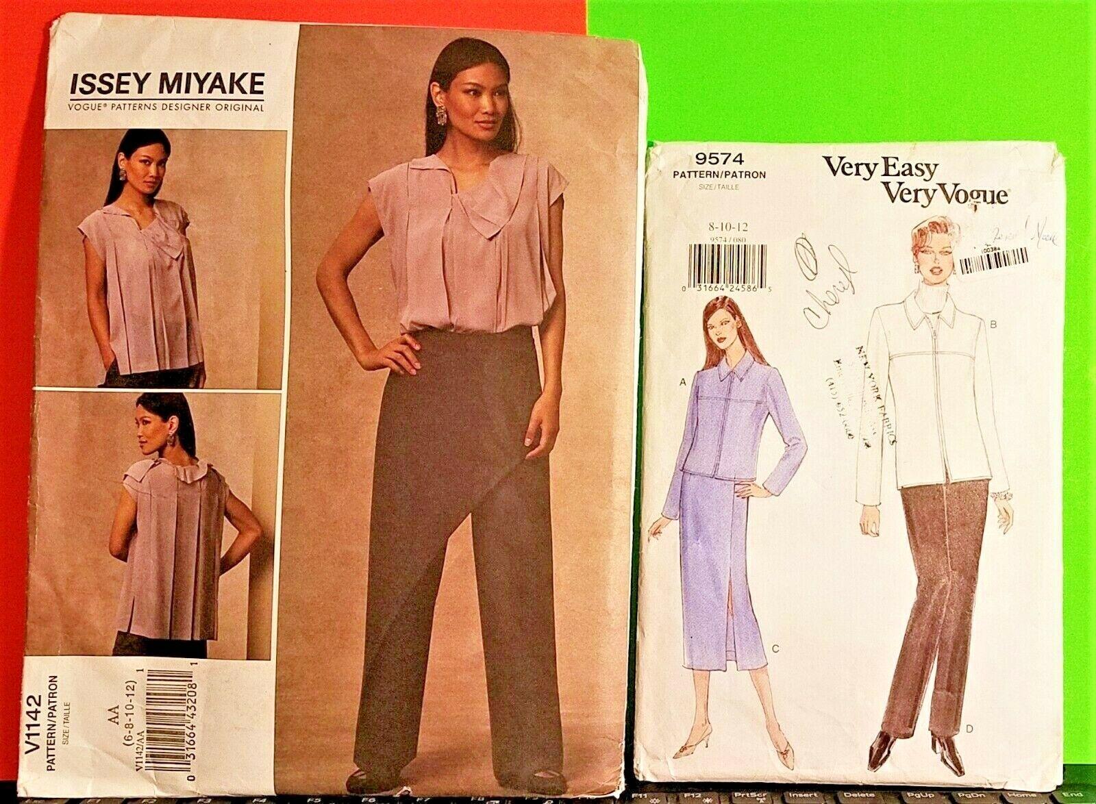 8 and 10 Uncut Vogue 2651 Issey Miyake Designer Original Jacket /& Pants Sewing Pattern Size 6