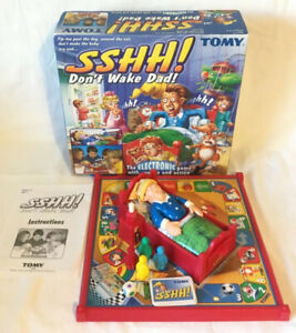 Sshh-Don-t-Wake-Dad-Electronic-Board-Game-TOMY-100-Complete-Working
