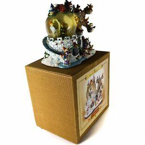 Grandeur-Noel-Musical-Snow-Globe-Frosty-Snowman-93003-Christmas-Holiday-Vintage