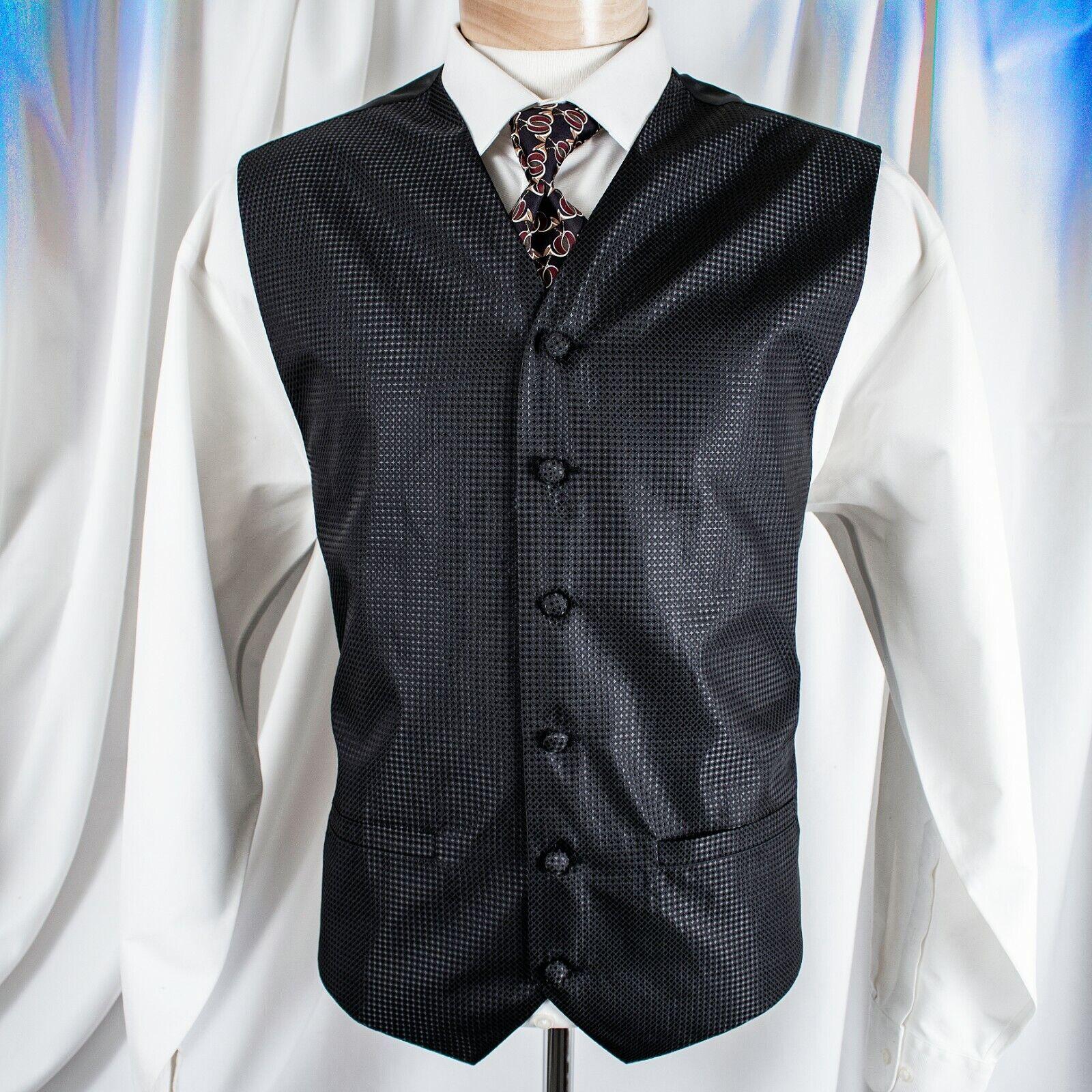 PRONTO-UOMO Black with Geometric Men Vest