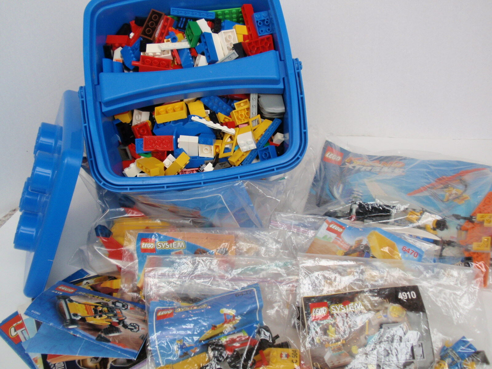 i nuovi marchi outlet online Group Lot LEGO Parts Minicifras Instructions Kits 4 4 4 lbs Plus Tub Storage giocattoli  ecco l'ultimo