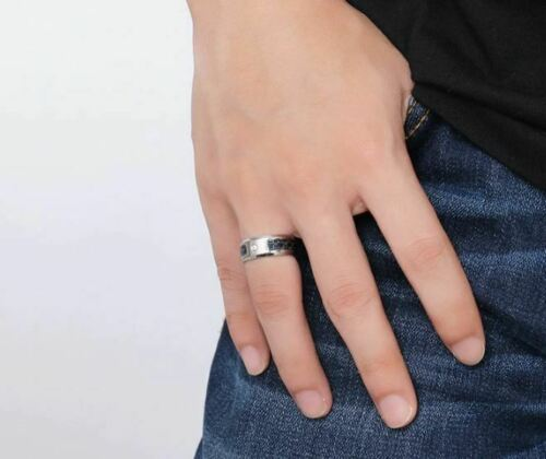 Anillo de dedo para hombres /& unisex Zircon anillos Blank /& azul carbon 17