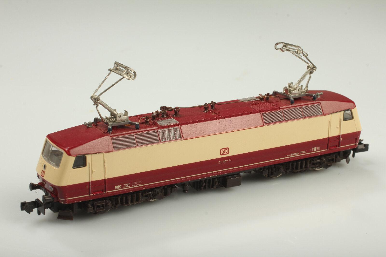 Fleischmann N 7350 DB e 120 002-1 va-LUCE OK-sporco/gratto/carenze
