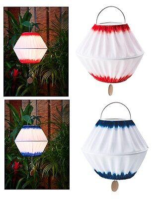 "IKEA LED SOLAR POWERED PENDANT LAMP 13/"" Outdoor Patio Light SOLVINDEN Blue Red"