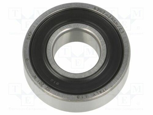 SKF6202-2RSH//C3 Bearing W:11mm Int.dia:15mm single row deep groove ball