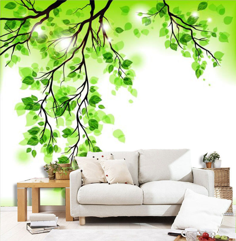 3D Lovely Grün trees 235 Wall Paper Print Wall Decal Deco Indoor Wall Murals