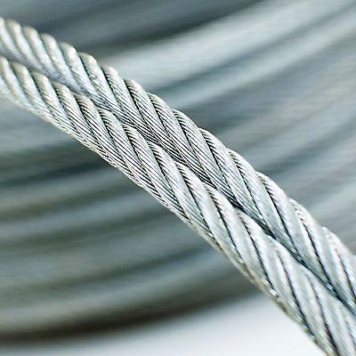 6 serre-câbles étrie et 2 tendeurs a ca SET 25m câble acier galvanisé 6x19 6mm