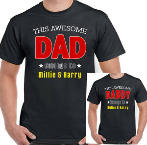 8e53e7f82 Personalised This Awesome Dad Daddy Belongs To Mens Funny Father's ...