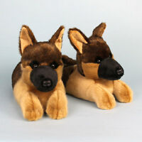 German Shepherd Slippers - Brown Dog Slippers - For Men & Women