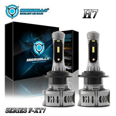 2pcs H7 LED Headlight DRL Motorcycle for Kawasaki Ninja 250 300 650 ZX6R ZX10R