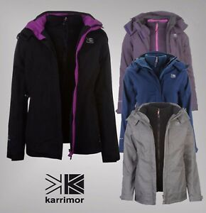 08dcbf1bd1f Image is loading Ladies-Karrimor-3-in-1-Waterproof-Breathable-Jacket-