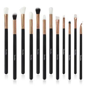 12Pcs Pro Makeup Cosmetic Tool Eyeshadow Eye Shadow Foundation Blending Brushes