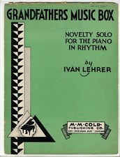NOVELTY PIANO SOLO Sheet Music 1934 Grandfather's Music Box