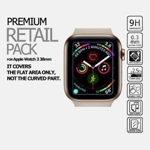 Tempered Glass Flat Screen Protector Cover Film For Apple Watch Series 3 38mm Ebay
