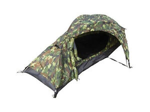 Image is loading One-Man-WOODLAND-CAMO-TENT-1-Berth-Military-  sc 1 st  eBay & One Man WOODLAND CAMO TENT - 1 Berth Military Army Camouflage ...