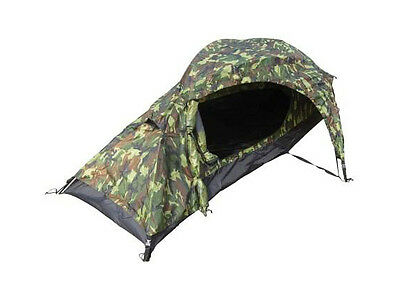 One Man WOODLAND CAMO TENT - 1 Berth Military Army Camouflage Camping Kit New