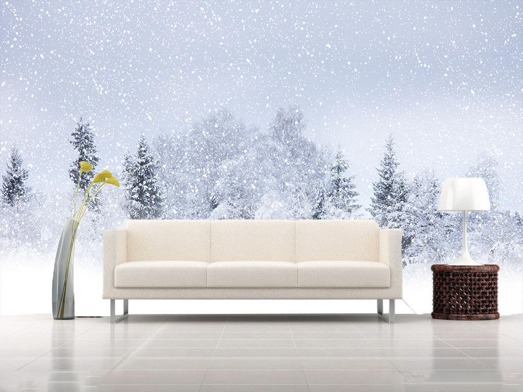 3D Neve Fluttering Parete Murale FotoCarta da parati immagine sfondo muro stampa