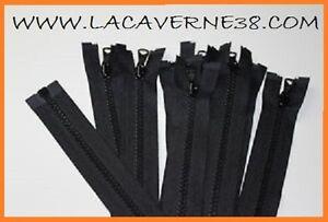 Fermeture-eclair-glissiere-separable-Noir-maille-injecte-de-30-a-150-cm-couture