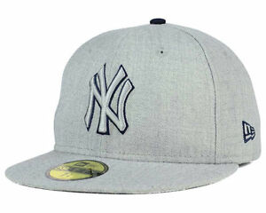 d190a22849b00 New York Yankees New Era MLB Heather League Basic 59FIFTY Fitted Hat ...