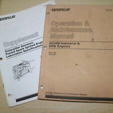 Caterpillar G3406 Engine Owner Operation Operator Manual Maintenance Guide Book