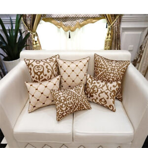 Details About Luxury Cushion Cover Pillow Case European Embroidery Cushions Sofa Seat