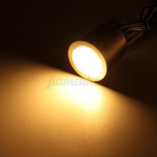 10Pcs LED Deck Stair Light 32MM Yard Garden Pathway Patio Landscape Lamp EU Plug