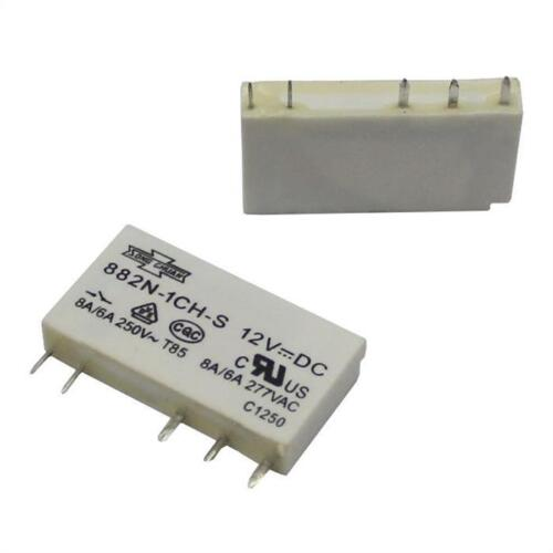 Print Relay 12V Song Chuan 882N-1CH-S 12VDC 8A 250V Changeover contact