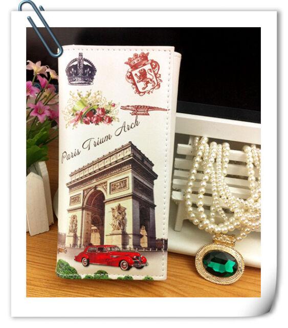 New Fashion Lady Women Long Purse Clutch Wallet Design Printing Bag Card Holder