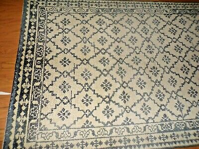 Pottery Barn Gwyn Hand Knotted Wool Rug 5 X 8 Charcoal Gray New