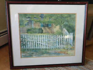 Rhode Island Artist Lynne Wilson Meleleu Landscape Painting Watercolor