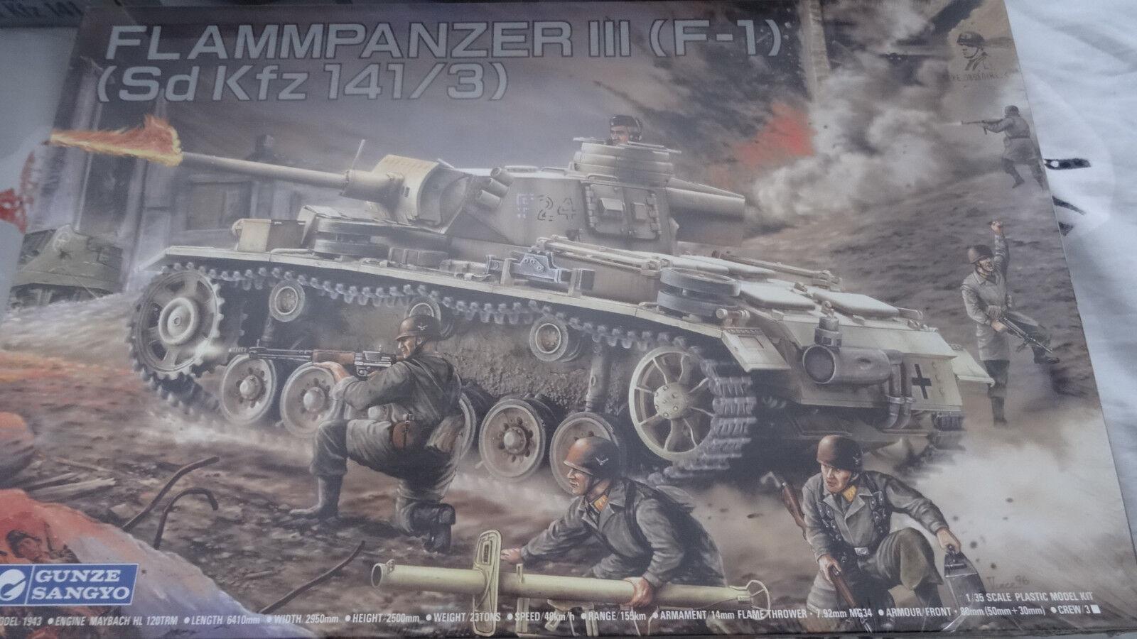barato y de alta calidad Maquette Neuve GUNZE SANGYO 1 35 Char FLAMMPANZER III (F1) (F1) (F1) ( Sd Kfz 141 3 )  barato en línea