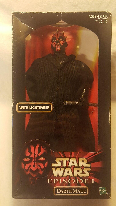 Star wars episode 12  darth maul - action - figur mit lichtschwert 1998 neue