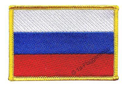 Russland Aufnäher Flaggen Fahnen Patch Aufbügler 8x6cm