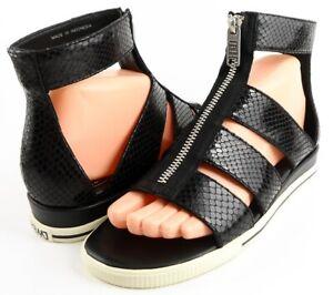 MARC-MARC-JACOBS-M9000327-GIA-Black-Leather-Designer-Sandals-Comfort-7-5-M