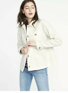 Old-Navy-Womens-Creme-de-la-Creme-Swing-Utility-Jacket-Unlined-Size-Small-NWT