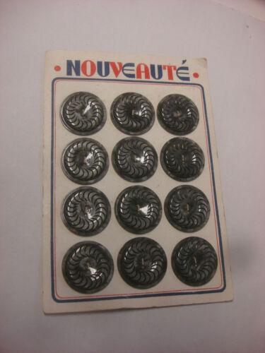 BOUTON ANCIEN galalithe gris 3,3 cm