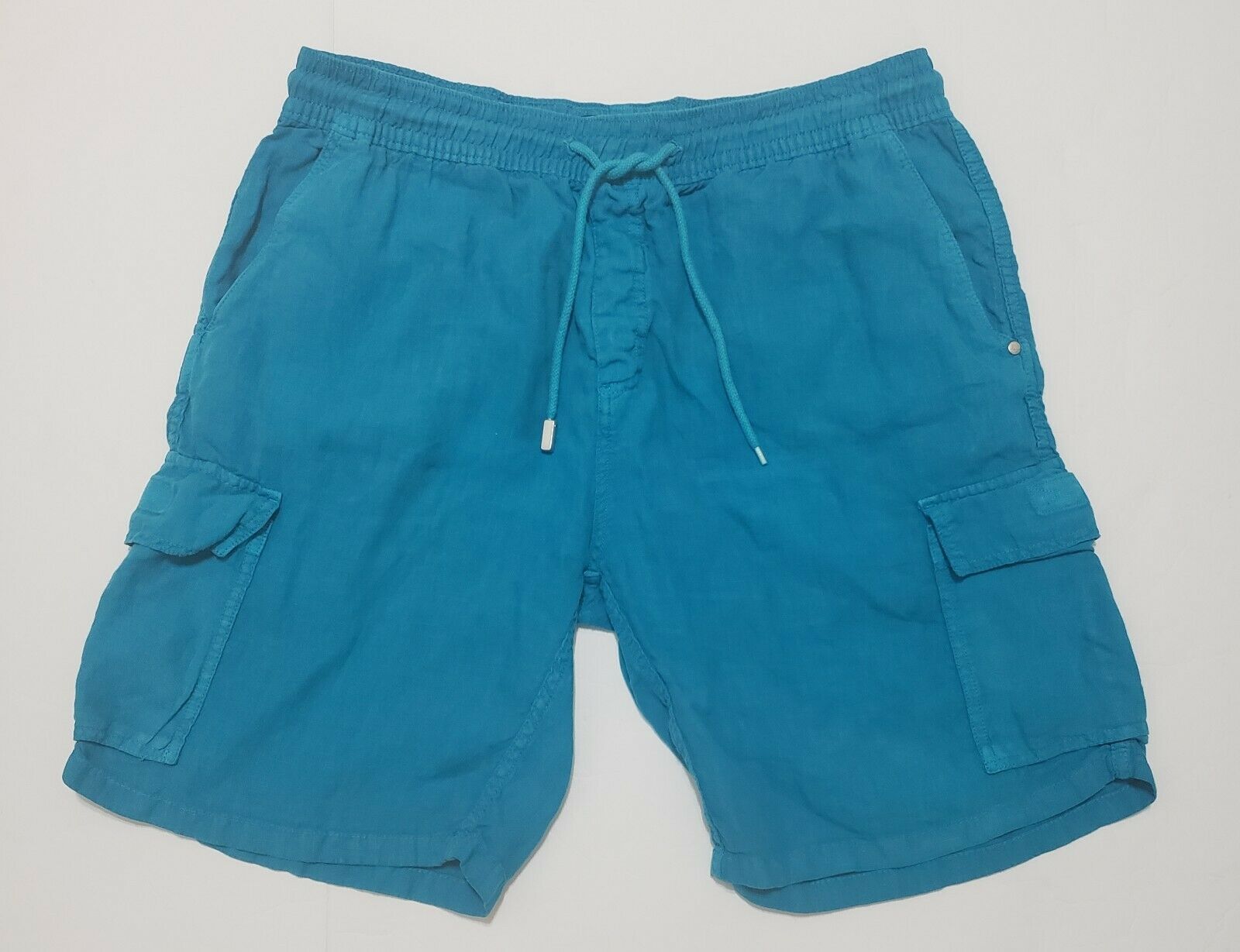 Vilebrequin Mens Swim Board Shorts Trunks Drawstring Cargo bluee Size XL