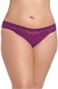 Natori Bliss Perfection Bikini Underwear Panties PLUS ONE SIZE 755092 14W NEW